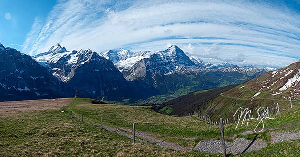 The Eiger And Grindelwald Valley