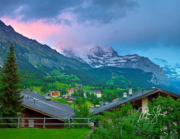 Switzerland Photo Galleries - Featured: Vibrance Over Wengen, Switzerland
