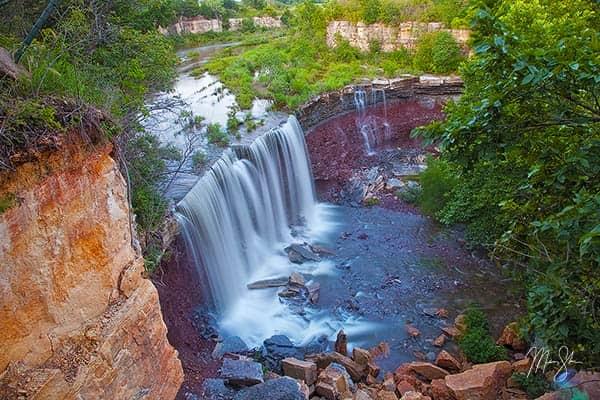 Waterfalls Of Cowley State Fishing Lake