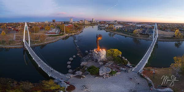 Wichita Twilight Panorama