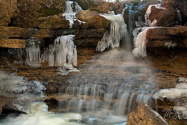 Winter at Santa Fe Lake Falls