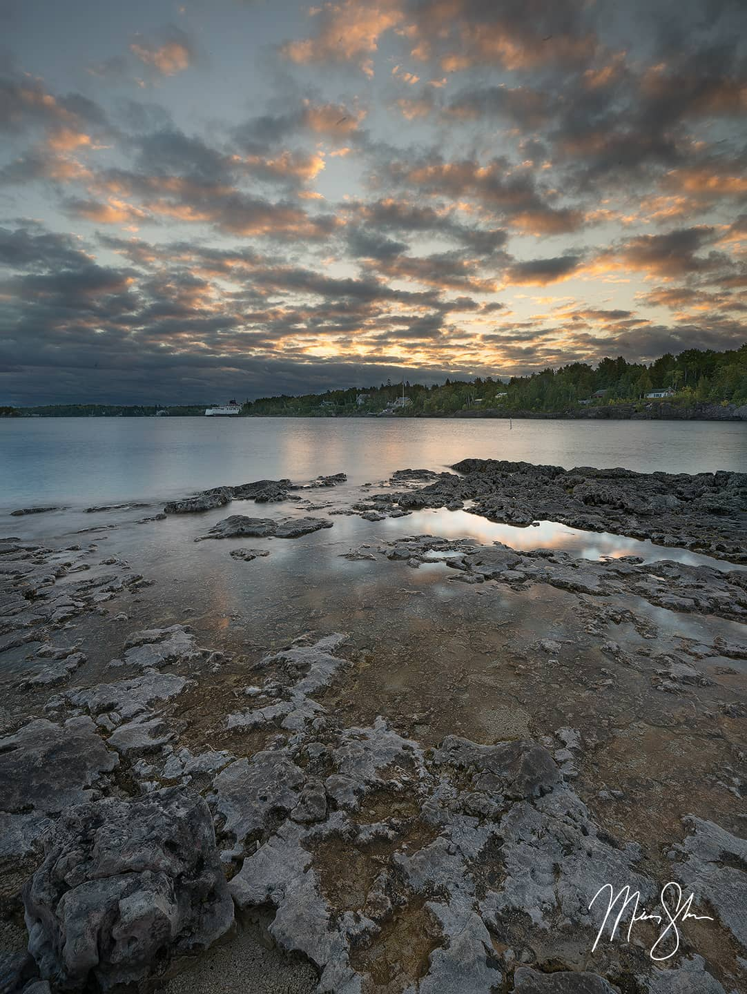 Open edition fine art print of Tobermory Sunrise from Mickey Shannon Photography. Location: Tobermory, Ontario, Canada