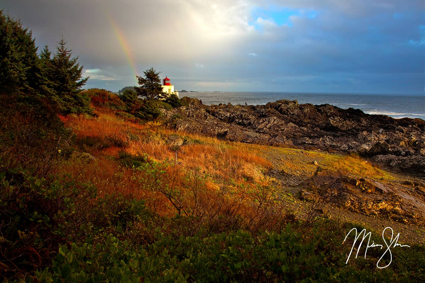 Ucluelet Lighthouse Rainbow - Ucluelet Lighthouse, Ucluelet, Vancouver Island, British Columbia, Canada
