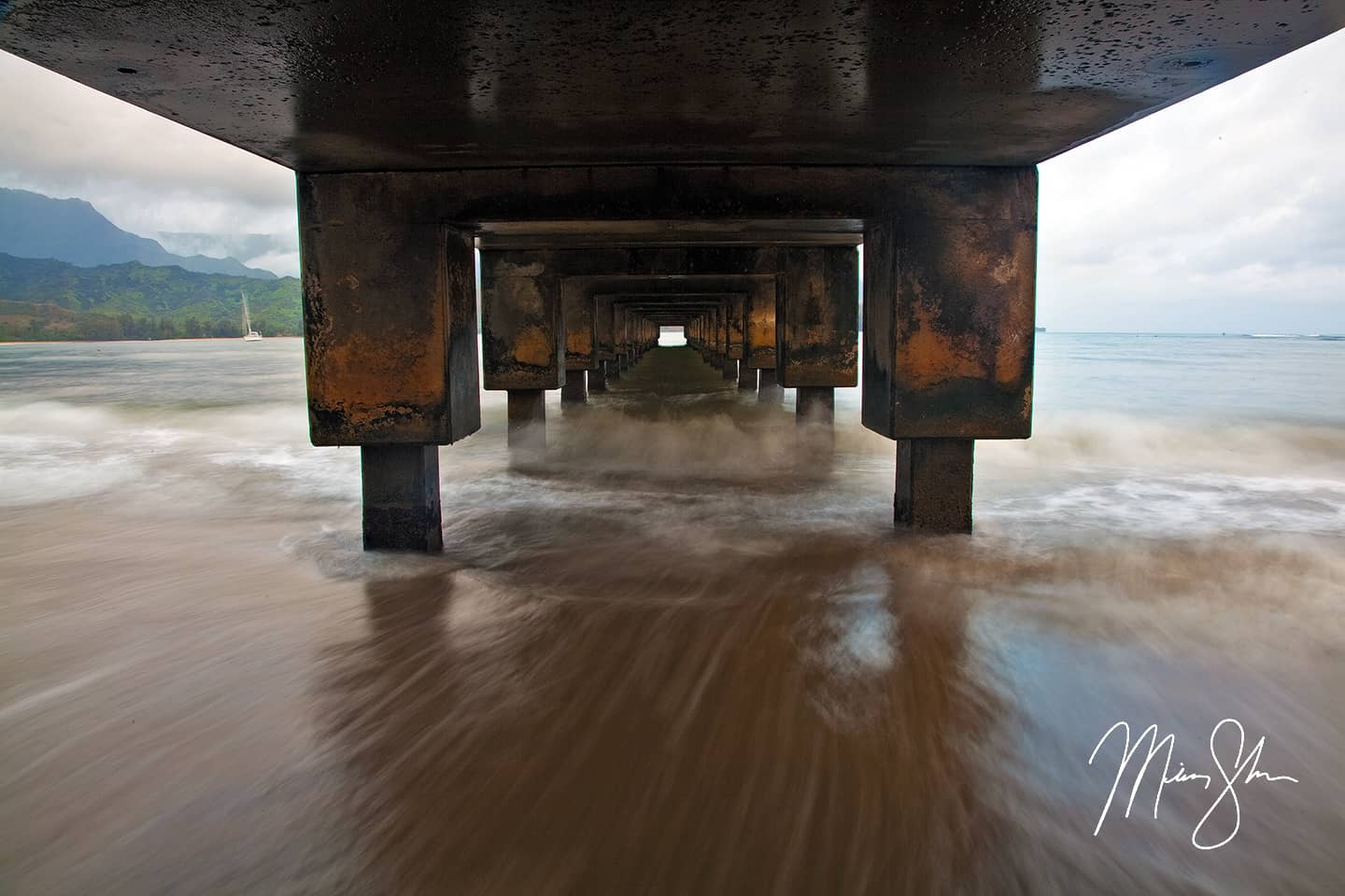 Under the Hanalei Pier