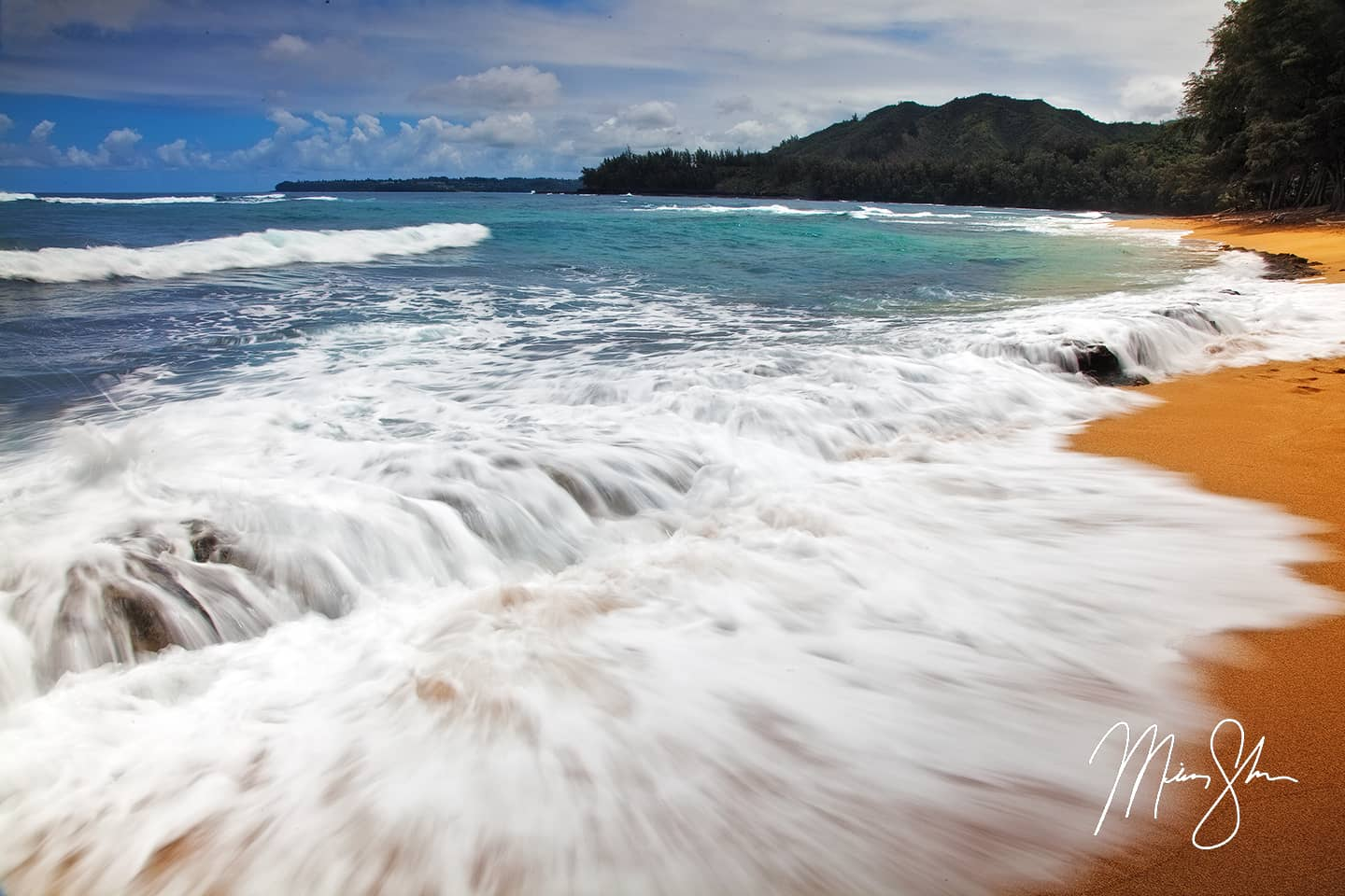 Waves of Wainiha Beach - Wainiha Beach, Haena State Park, Kauai, Hawaii