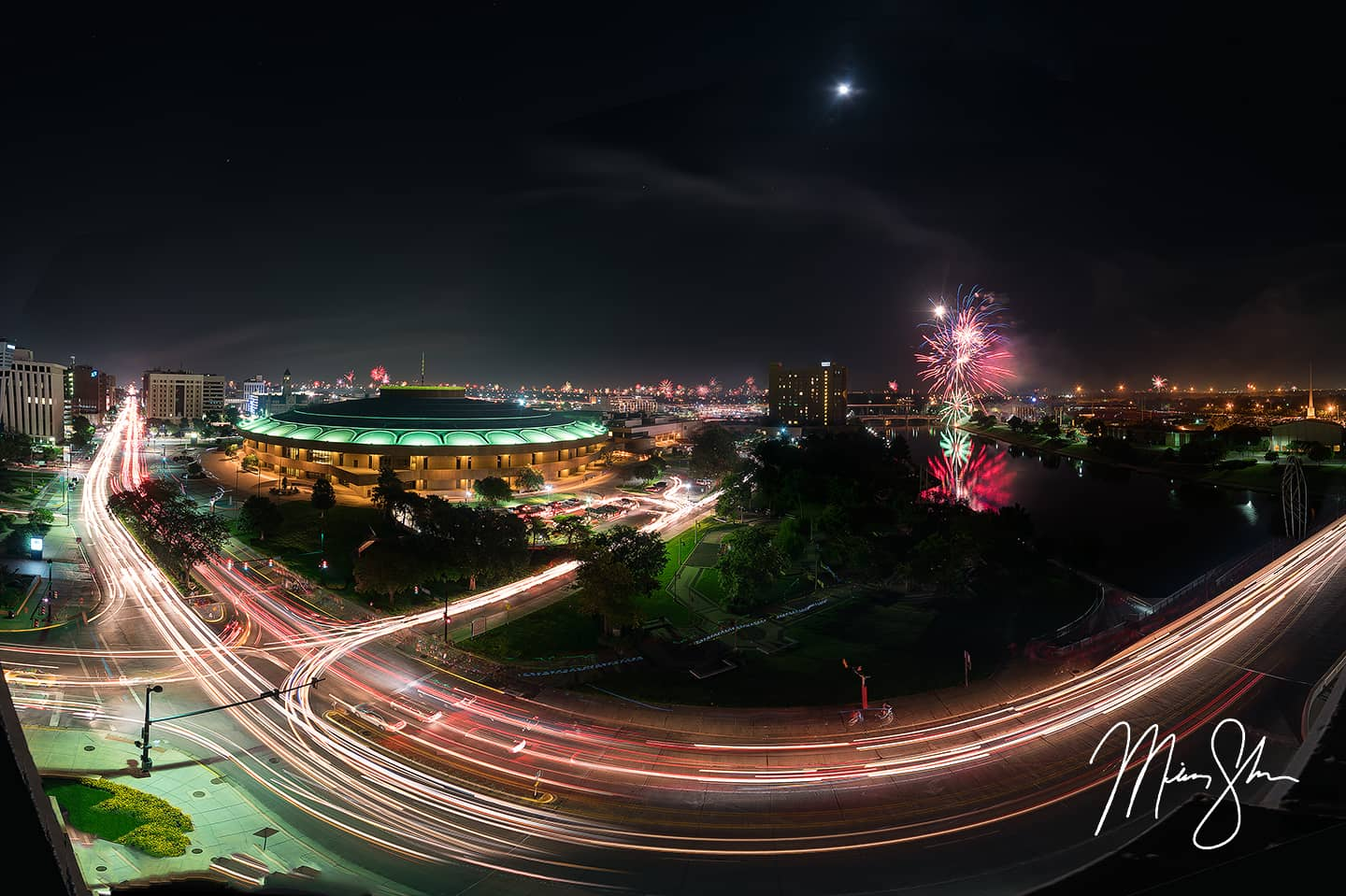 Wichita Independence Day Fireworks Panorama - Wichita, Kansas