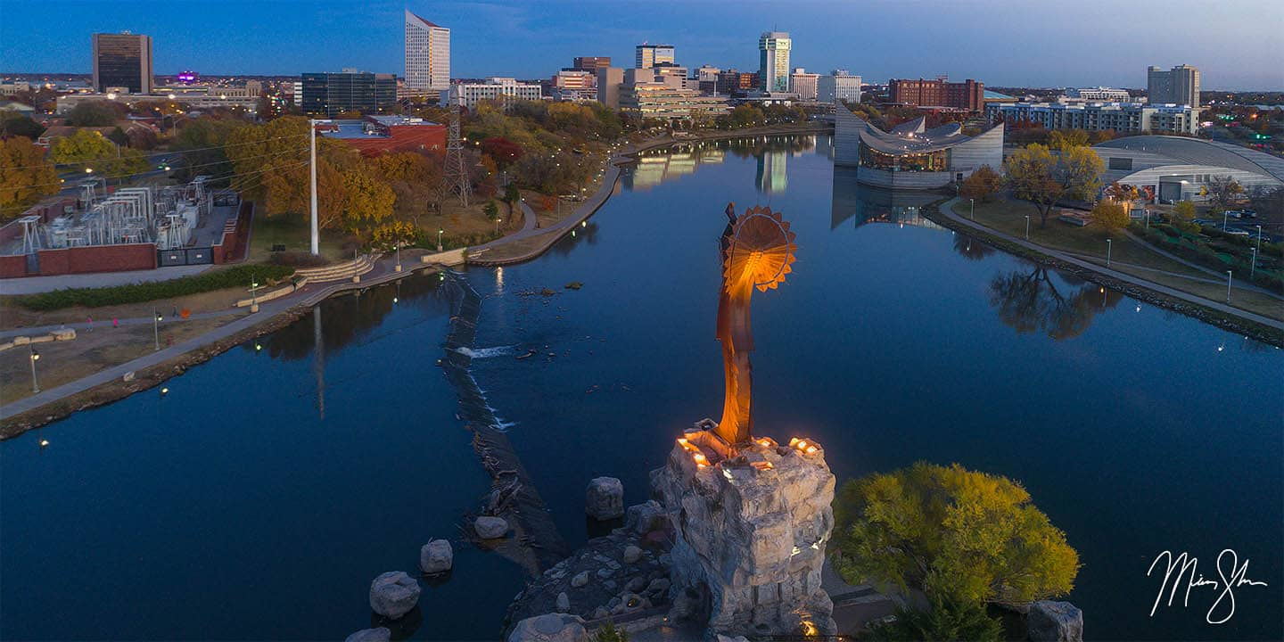 Wichita Photography: The Keeper of the Plains at sunset