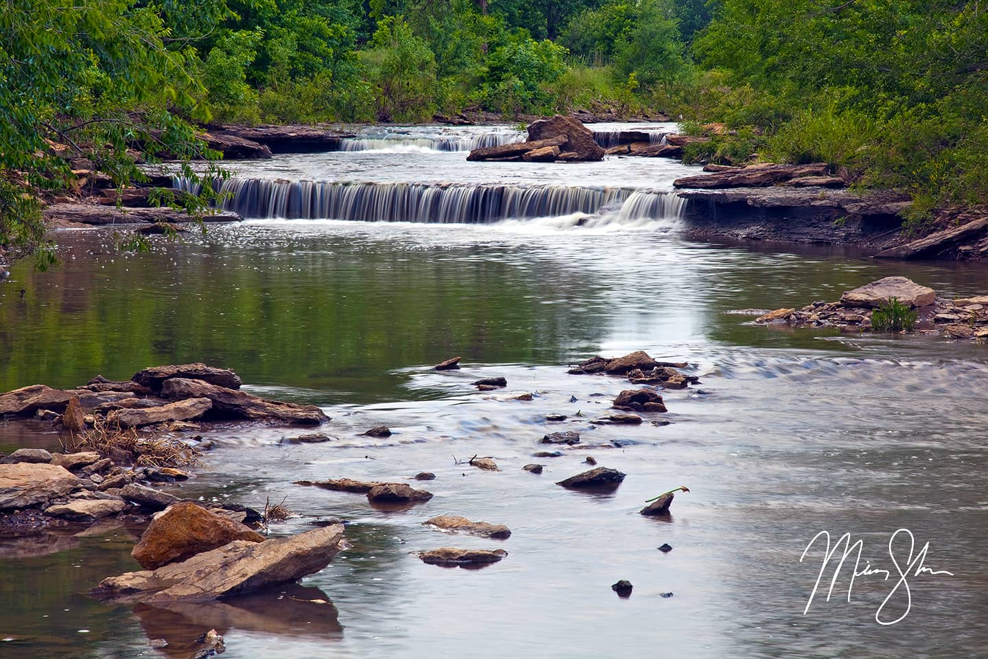 Open edition fine art print of Wildcat Creek Falls from Mickey Shannon Photography. Location: Moline, Kansas