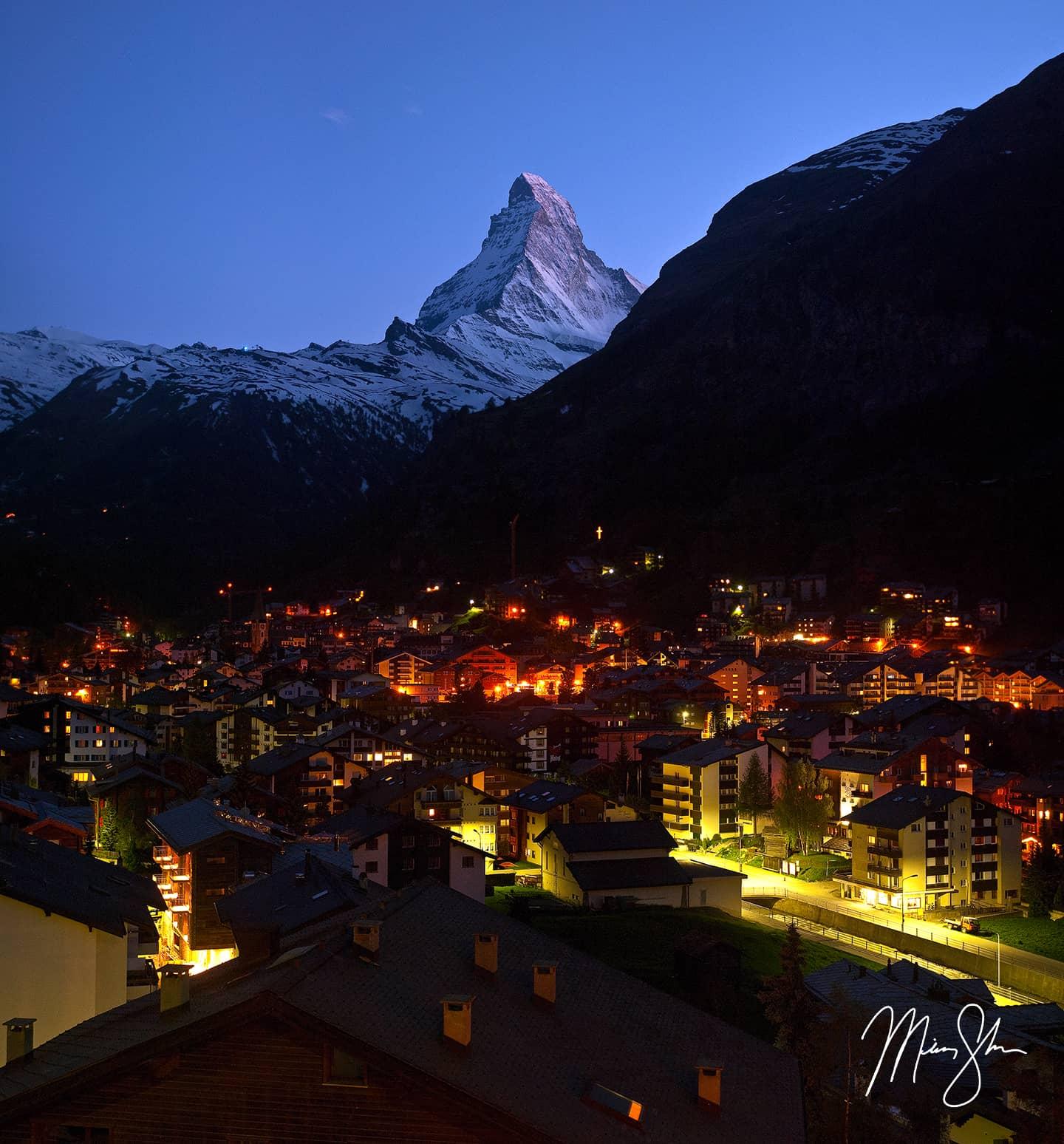 Zermatt At Night