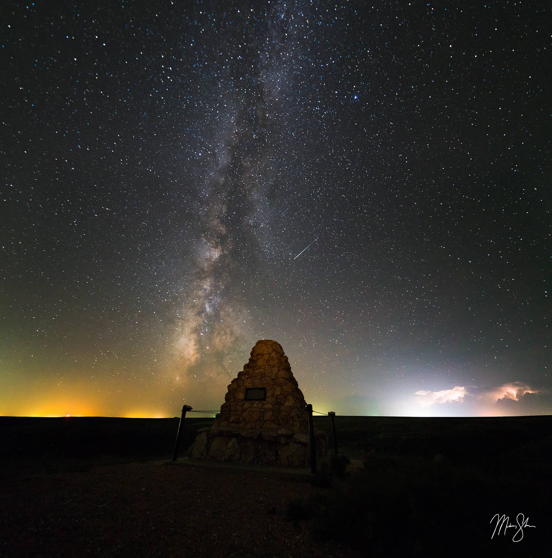 Battle Canyon Monument Milky Way