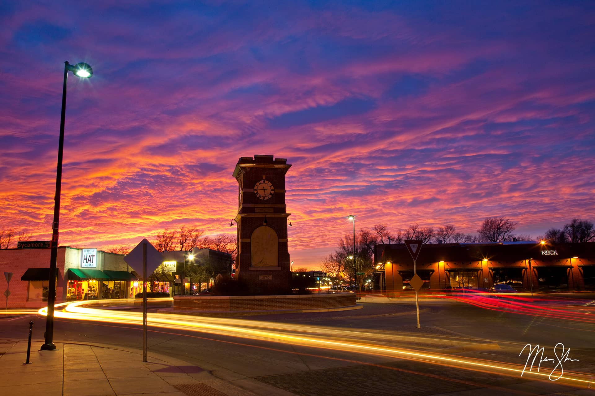 Open edition fine art print of Delano District Sunset from Mickey Shannon Photography. Location: Delano District, Wichita, Kansas
