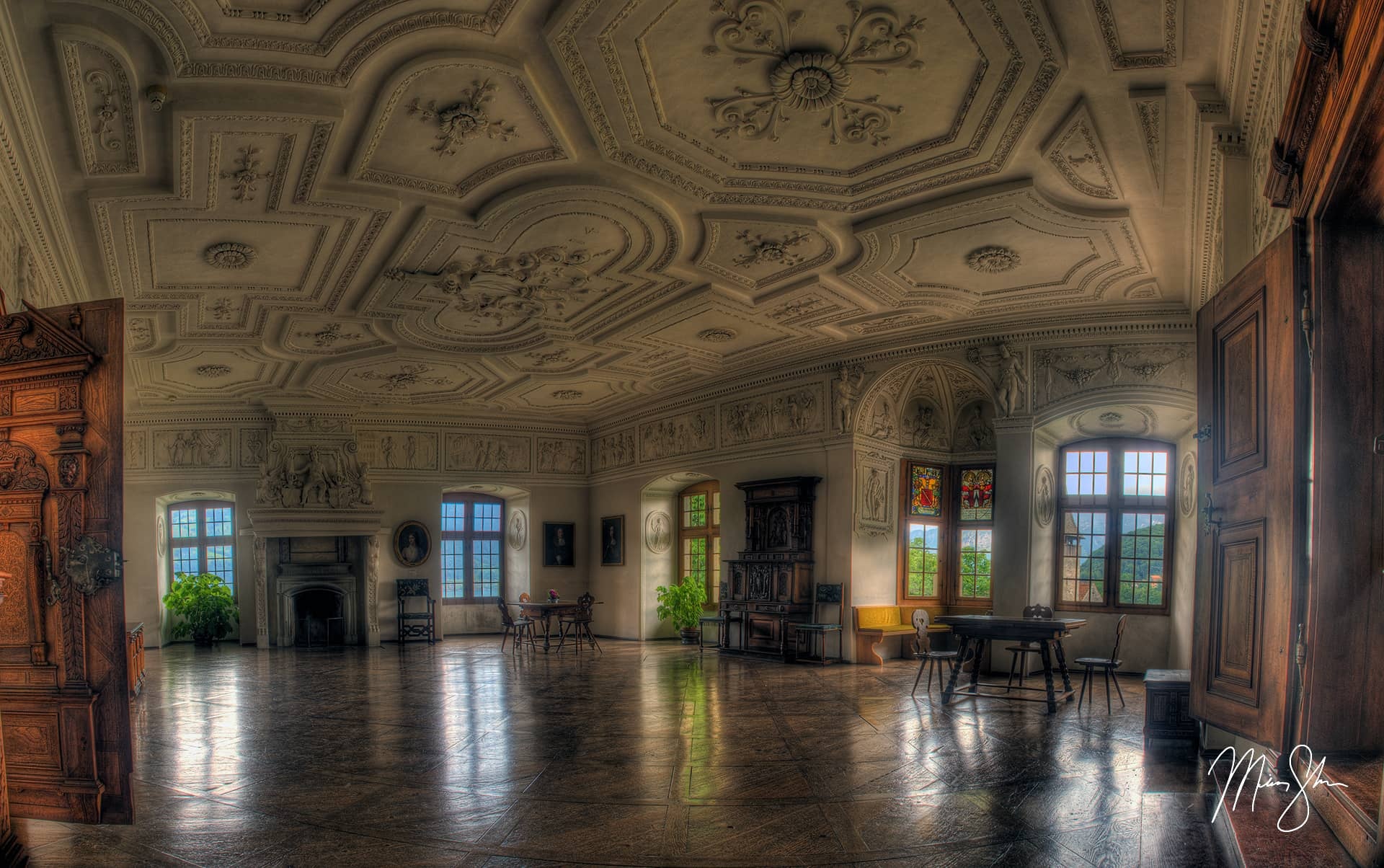 Open edition fine art print of The Marble Room (Elegance) from Mickey Shannon Photography. Location: Spiez, Canton of Bern, Switzerland