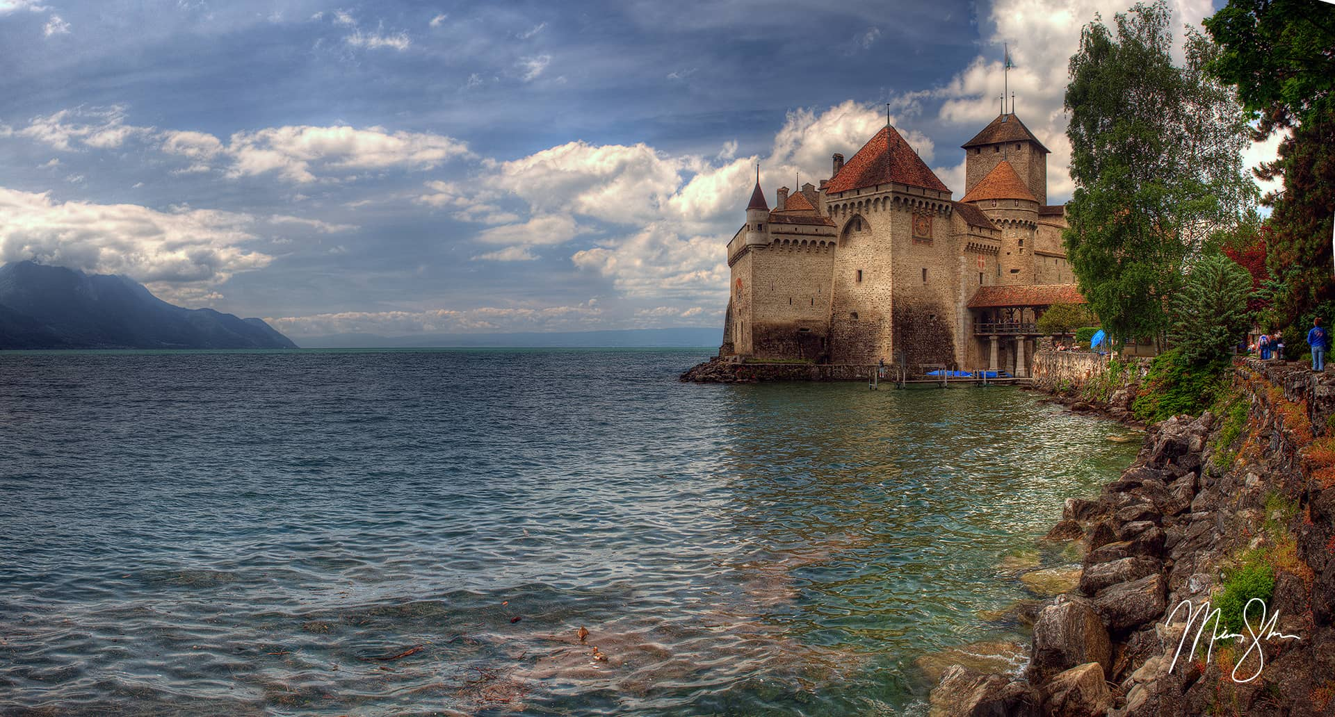 Open edition fine art print of Storybook Chillon from Mickey Shannon Photography. Location: Chateau de Chillon, Montreux-Vevey, Switzerland